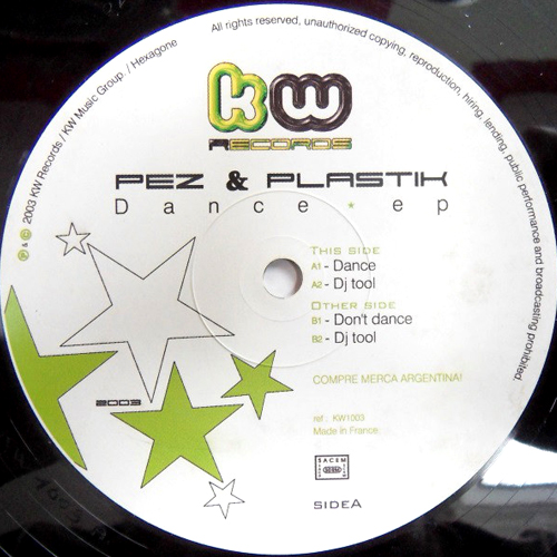 KW1003 Pez and Plastik DANCE EP